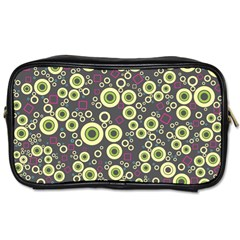 Ring Circle Plaid Green Pink Blue Toiletries Bags 2 Side by Alisyart