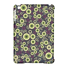 Ring Circle Plaid Green Pink Blue Apple Ipad Mini Hardshell Case (compatible With Smart Cover) by Alisyart
