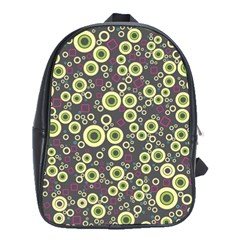 Ring Circle Plaid Green Pink Blue School Bags (xl)  by Alisyart