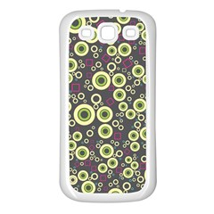 Ring Circle Plaid Green Pink Blue Samsung Galaxy S3 Back Case (white) by Alisyart