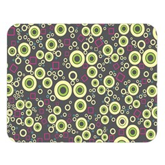 Ring Circle Plaid Green Pink Blue Double Sided Flano Blanket (large)  by Alisyart