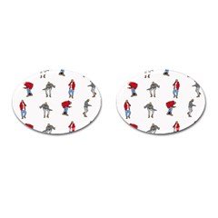 Hotline Bling White Background Cufflinks (oval) by Onesevenart