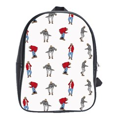 Hotline Bling White Background School Bags(large)  by Onesevenart