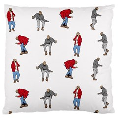 Hotline Bling White Background Large Flano Cushion Case (two Sides) by Onesevenart