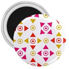 Spectrum Styles Pink Nyellow Orange Gold 3  Magnets by Alisyart
