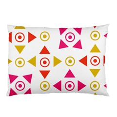 Spectrum Styles Pink Nyellow Orange Gold Pillow Case by Alisyart