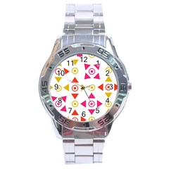 Spectrum Styles Pink Nyellow Orange Gold Stainless Steel Analogue Watch by Alisyart