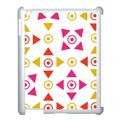 Spectrum Styles Pink Nyellow Orange Gold Apple Ipad 3/4 Case (white) by Alisyart
