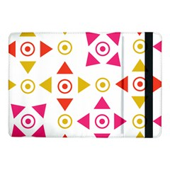 Spectrum Styles Pink Nyellow Orange Gold Samsung Galaxy Tab Pro 10 1  Flip Case by Alisyart