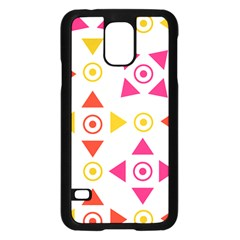 Spectrum Styles Pink Nyellow Orange Gold Samsung Galaxy S5 Case (black) by Alisyart
