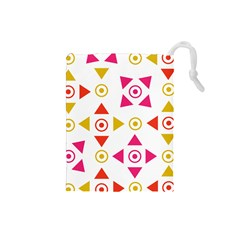 Spectrum Styles Pink Nyellow Orange Gold Drawstring Pouches (small)  by Alisyart