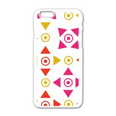 Spectrum Styles Pink Nyellow Orange Gold Apple Iphone 6/6s White Enamel Case