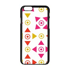 Spectrum Styles Pink Nyellow Orange Gold Apple Iphone 6/6s Black Enamel Case by Alisyart