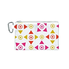 Spectrum Styles Pink Nyellow Orange Gold Canvas Cosmetic Bag (s) by Alisyart
