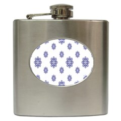 Snow Blue White Cool Hip Flask (6 Oz) by Alisyart