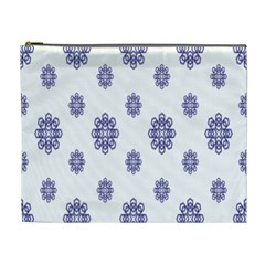 Snow Blue White Cool Cosmetic Bag (xl) by Alisyart