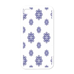 Snow Blue White Cool Apple Iphone 4 Case (white) by Alisyart