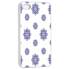 Snow Blue White Cool Apple iPhone 4/4s Seamless Case (White) by Alisyart