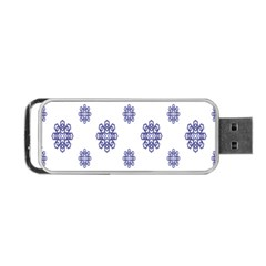 Snow Blue White Cool Portable Usb Flash (one Side) by Alisyart