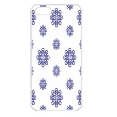 Snow Blue White Cool Apple Iphone 5 Seamless Case (white)