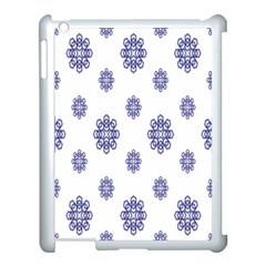Snow Blue White Cool Apple Ipad 3/4 Case (white) by Alisyart