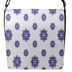 Snow Blue White Cool Flap Messenger Bag (s) by Alisyart