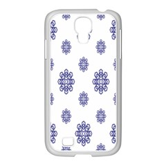 Snow Blue White Cool Samsung Galaxy S4 I9500/ I9505 Case (white) by Alisyart