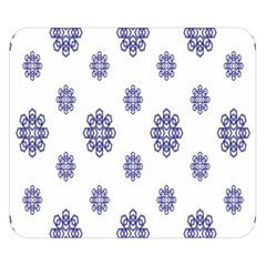 Snow Blue White Cool Double Sided Flano Blanket (small)  by Alisyart