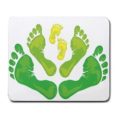 Soles Feet Green Yellow Family Large Mousepads by Alisyart
