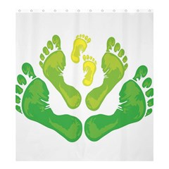 Soles Feet Green Yellow Family Shower Curtain 66  X 72  (large)  by Alisyart