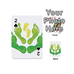 Soles Feet Green Yellow Family Playing Cards 54 (mini)  by Alisyart