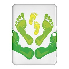 Soles Feet Green Yellow Family Samsung Galaxy Tab 4 (10 1 ) Hardshell Case  by Alisyart
