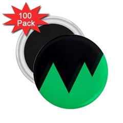 Soaring Mountains Nexus Black Green 2 25  Magnets (100 Pack)  by Alisyart