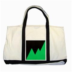 Soaring Mountains Nexus Black Green Two Tone Tote Bag by Alisyart