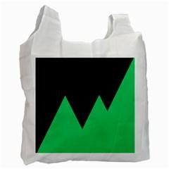 Soaring Mountains Nexus Black Green Recycle Bag (two Side)  by Alisyart