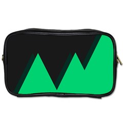Soaring Mountains Nexus Black Green Toiletries Bags by Alisyart