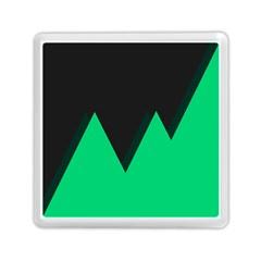 Soaring Mountains Nexus Black Green Memory Card Reader (square)  by Alisyart