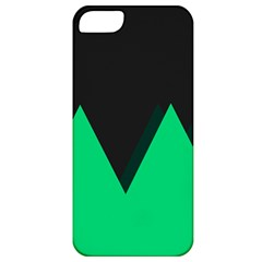 Soaring Mountains Nexus Black Green Apple Iphone 5 Classic Hardshell Case by Alisyart