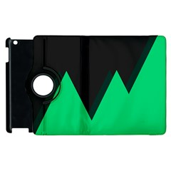 Soaring Mountains Nexus Black Green Apple Ipad 3/4 Flip 360 Case by Alisyart