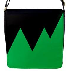 Soaring Mountains Nexus Black Green Flap Messenger Bag (s) by Alisyart