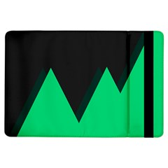 Soaring Mountains Nexus Black Green Ipad Air Flip by Alisyart