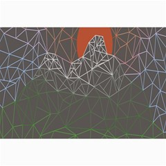 Sun Line Lighs Nets Green Orange Geometric Mountains Canvas 24  X 36  by Alisyart