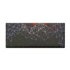 Sun Line Lighs Nets Green Orange Geometric Mountains Cosmetic Storage Cases by Alisyart