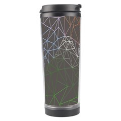 Sun Line Lighs Nets Green Orange Geometric Mountains Travel Tumbler by Alisyart