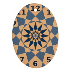 Stellated Regular Dodecagons Center Clock Face Number Star Ornament (oval) by Alisyart