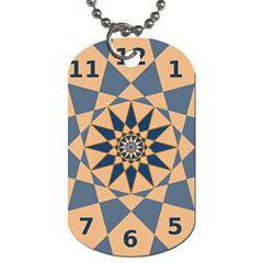 Stellated Regular Dodecagons Center Clock Face Number Star Dog Tag (one Side) by Alisyart