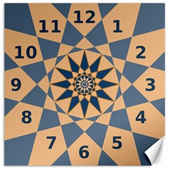 Stellated Regular Dodecagons Center Clock Face Number Star Canvas 20  X 20   by Alisyart