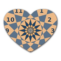 Stellated Regular Dodecagons Center Clock Face Number Star Heart Mousepads by Alisyart