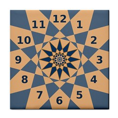 Stellated Regular Dodecagons Center Clock Face Number Star Face Towel by Alisyart