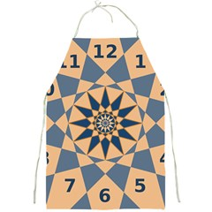 Stellated Regular Dodecagons Center Clock Face Number Star Full Print Aprons by Alisyart